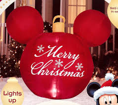 Tall Inflatable Christmas Decorations by Amazon Com Disney Mickey Mouse Ears Red Merry Christmas Ornament