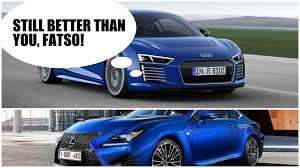 lexus electric supercar 2016 audi r8 e tron weighs a hefty 1 840 kg same as lexus rc f