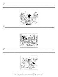 imagenes para colorear y escribir oraciones oraciones básicas para los niños