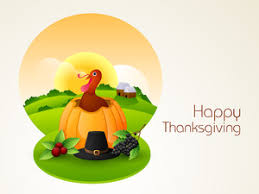 happy thanksgiving day celebration with turkey bird holding fork