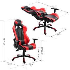 homcom pu office chair race car style high back ergonomic gaming