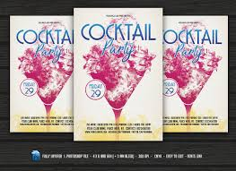 cocktail party flyer flyer templates creative market