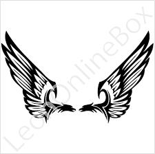 tribal eagle wings designs