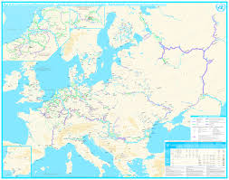 Volga River Map Map Of European Inland Waterway Network 1362x1071 Mapporn