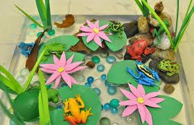 creative projects for kids frog pond sensory bin