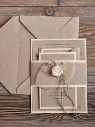 recycling eco wedding invitation country wedding invitation