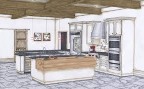 Sketch Kitchen Design by Candice Olson Renderings Final Kitchen Color Perspective