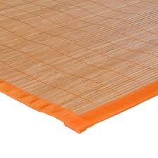 tapis de cuisine orange set de table en bambou ganse orange 48x33cm monbeautapis com