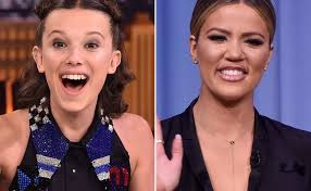 khloé kardashian and millie bobby brown just had a love fest on