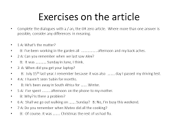 the article the indefinite definite and zero article ppt download