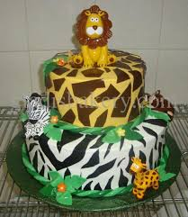 jungle baby shower cake baby shower