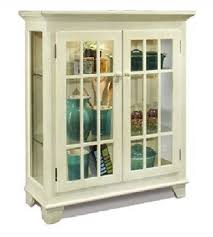 White Curio Cabinet Antique White Curio Cabinet Lighted Console Display Book Case Wood