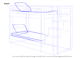 Drawing Of A Bed Learn How To Draw A Bunk Bed Furniture Step By Step Drawing