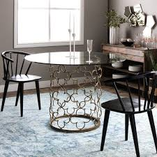 quatrefoil brush gold dining table free shipping today