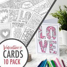 valentine u0027s cards 10 sarah renae clark coloring