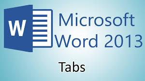 tutorial youtube word microsoft word 2013 tutorial tabs youtube