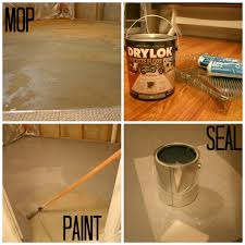 Paint Concrete Floor Ideas by How To Paint Cement Floors With A Design With Before After Picture