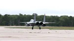 two f 15 eagles taxi after landing at otis air national guard base