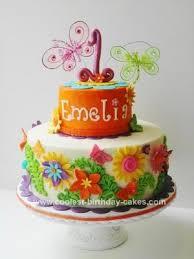 stunning homemade 1st birthday cake with flowers