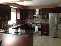 southwestern kitchen cabinets dark brown kitchen cabinets with stainless steel appliances