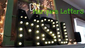 light up letters diy diy light up marquee letters youtube