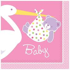 pink stork baby shower party supplies baby shower mania