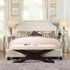 homesullivan monarch white queen upholstered bed 40e388bq 1wlbed