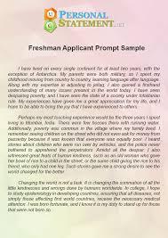 College Freshman Resume Sample Personal Statement Sample Personal Statements Graduate