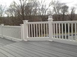 longevity vinyl deck railing system white stair rail section