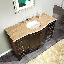 Bathroom Vanities 60 by Silkroad 60 Inch Single Sink Bathroom Vanity Dark Walnut Finish