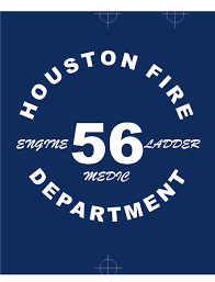 houston fire department station 56 back of shirt fire