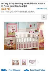 Crib Bedding Set Minnie Mouse by Disney Baby Minnie Mouse Happy Day 3 Piece Crib Bedding Set