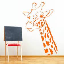 online get cheap nursery art giraffe aliexpress com alibaba group n190 giraffe head wall room sticker stickers themes animals vinyl wall art nursery girl wall sticker