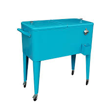 Cool Outdoor Furniture by Furniture Teal Metal Patio Cooler Cart For Astonishing Outdoor