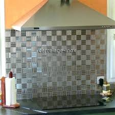 plaque credence cuisine credence cuisine inox mirrored mosaic tile a lovely cuisine amenagee