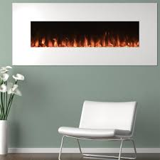 black wall mount fire and ice electric fireplace u2014 color changing