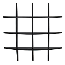 bcp cross wood wall shelf black finish home decor furniture ebay