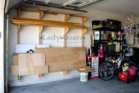 Garage Tool Organizer Rack - garage organization and storage ideas wall mounted lumber rack how