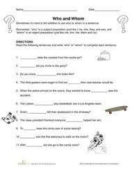 commas in lists worksheets language and language arts