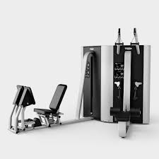 lat pulldown weight training station arm curl leg press