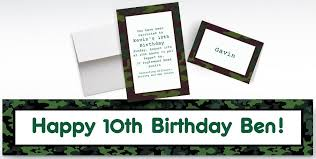custom camouflage invitations u0026 thank you notes party city