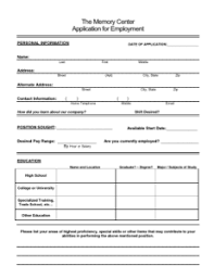 Resume For Cna Job by Work For The Memory Center Assisted Living Employment The