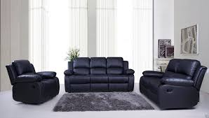 Black Leather Reclining Sofa And Loveseat Living Room Black Leather Seater Recliner Sofa Two And Chairstwo