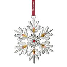 snowflake ornaments waterford silver snowflake ornament 2017 silver superstore