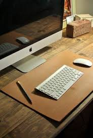 Brown Leather Desk Accessories Leather Desk Mat Personalized Desk Pad Leather Mat Executive