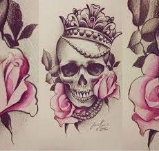 de 25 bedste idéer inden for flower skull tattoos på pinterest