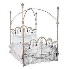 Iron Canopy Bed Polonaise Sized Iron Canopy Bed In Choice Of Finish And
