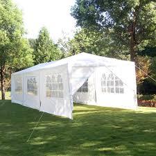 Patio Tent Gazebo by 8 Side Walls 10 U0027x30 U0027canopy Party Wedding Tent White Gazebo