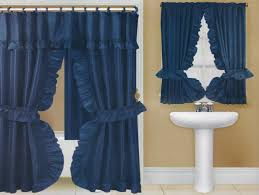 Blue Swag Curtains Fancy Swag Curtains For Shower Useful Reviews Of Shower Stalls