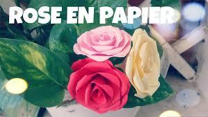 bouquet en papier comment faire une rose en papier tres facile youtube
